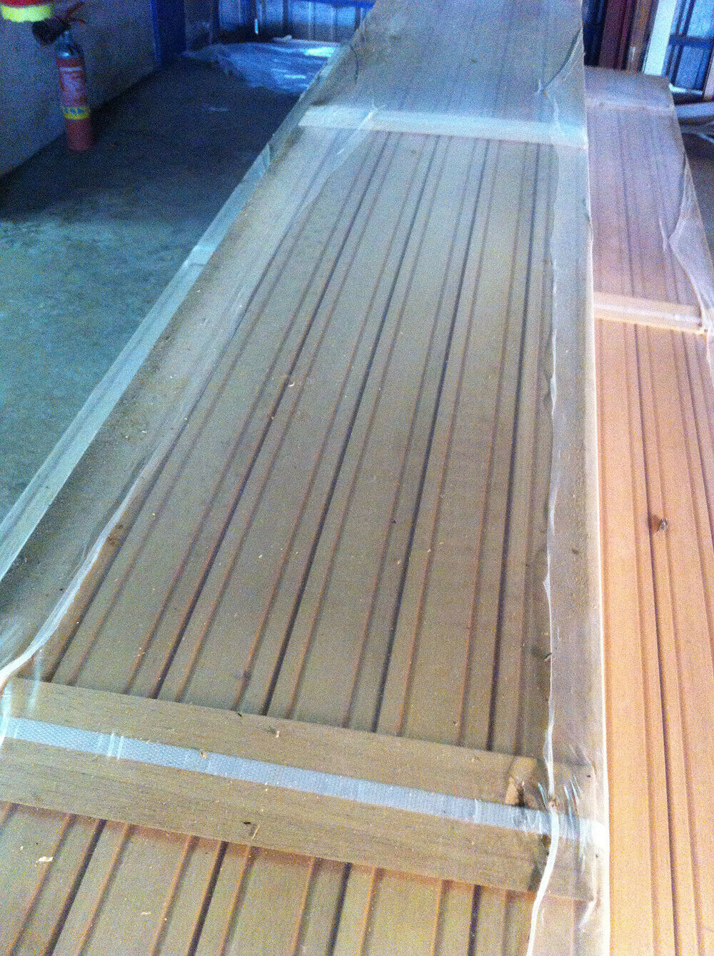 Mostrina per porta in legno massello grezzo L 225 cm in vendita - foto 3