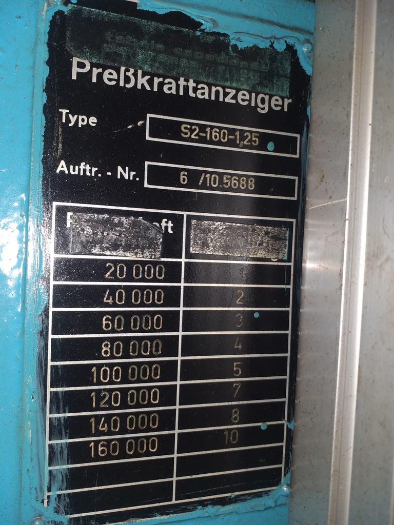 PRESSA A DOPPIO MONTANTE SCHULLER 160 T in vendita - foto 4