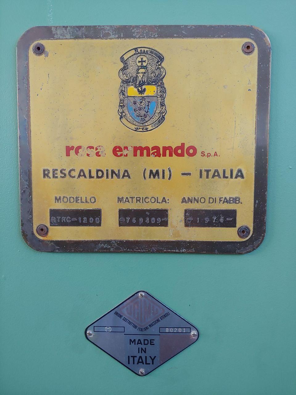 Rettificatrice Tangenziale Rosa Ermando RTRC 1200.  in vendita - foto 5