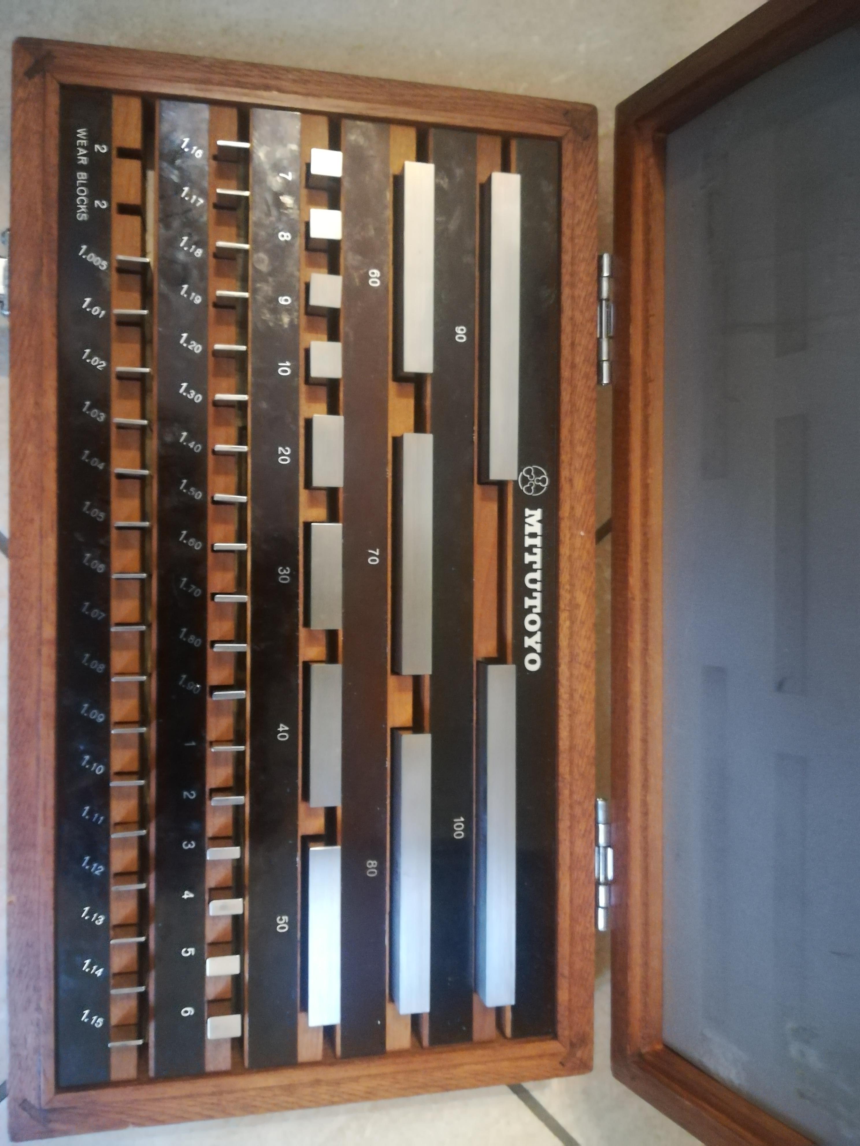 Blocchetti di riscontro Mitutoyo  47 pz.  Grado 1  in vendita - foto 1