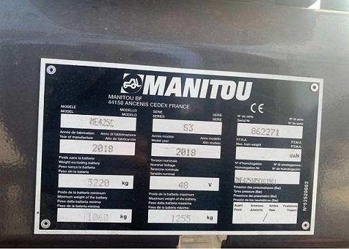 Carrello elevatore usato elettrico Manitou ME-425C in vendita - foto 3
