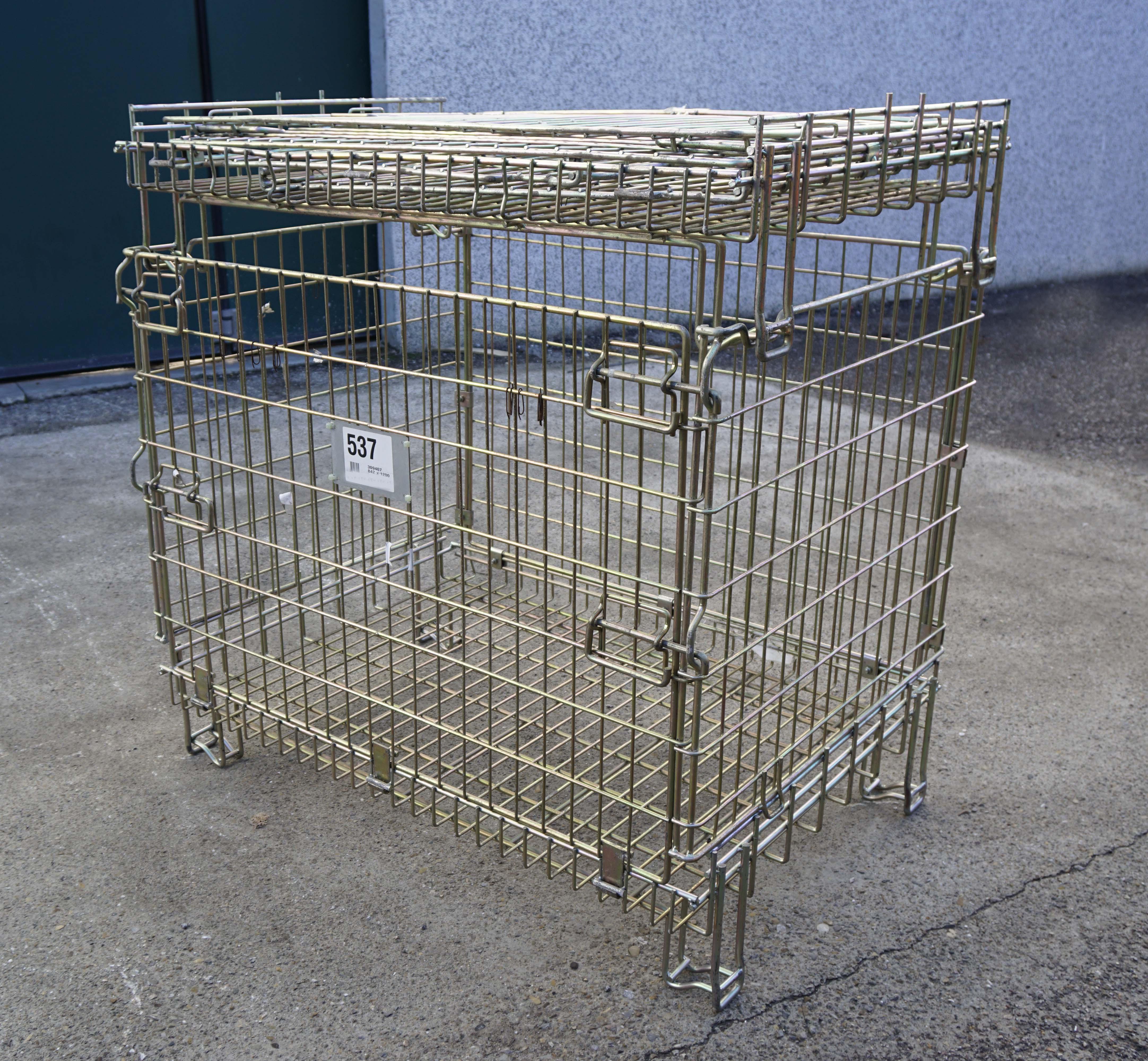 Ceste o cestoni in filo metallico richiudibili in vendita - foto 5