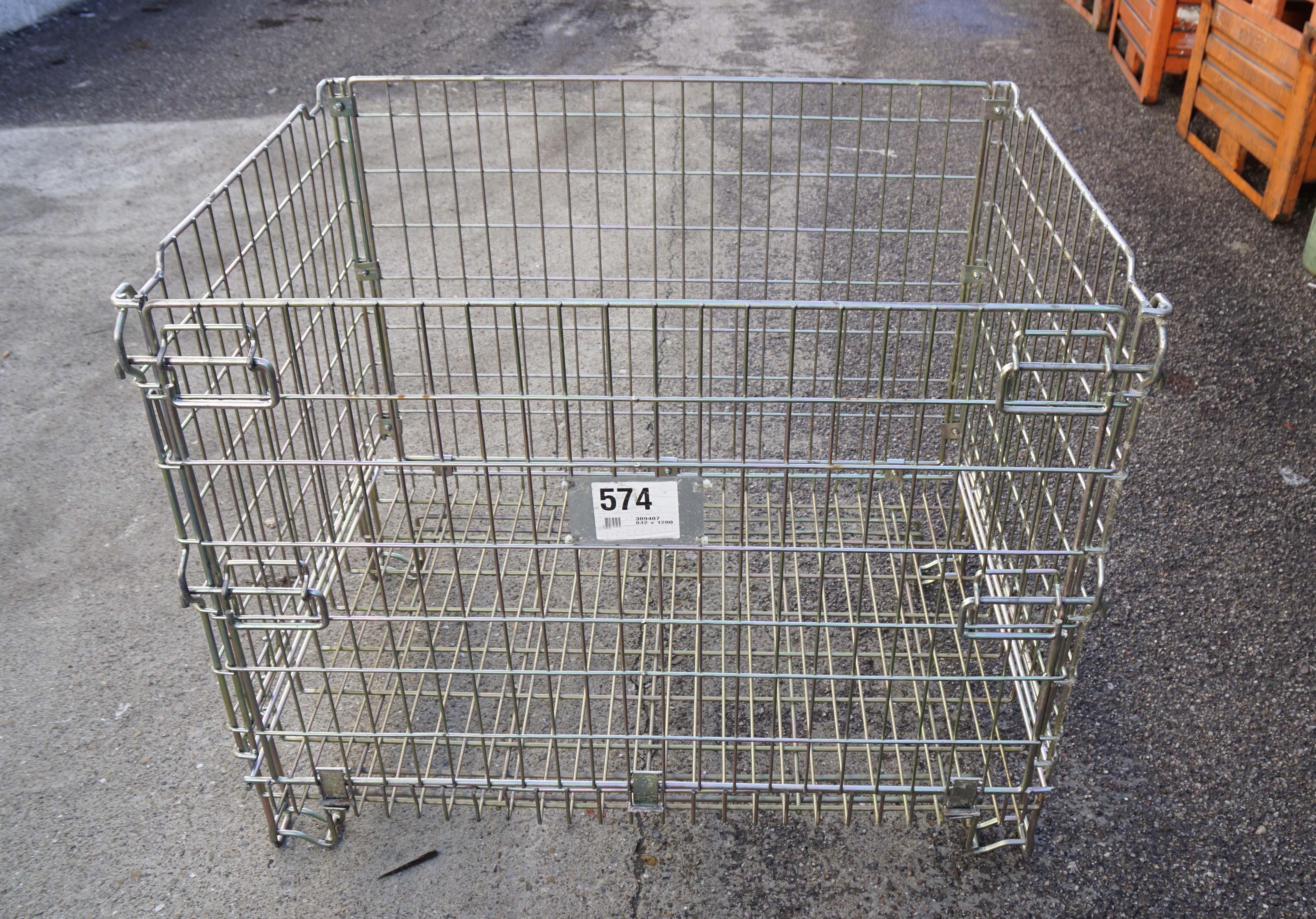 Ceste o cestoni in filo metallico richiudibili in vendita - foto 2