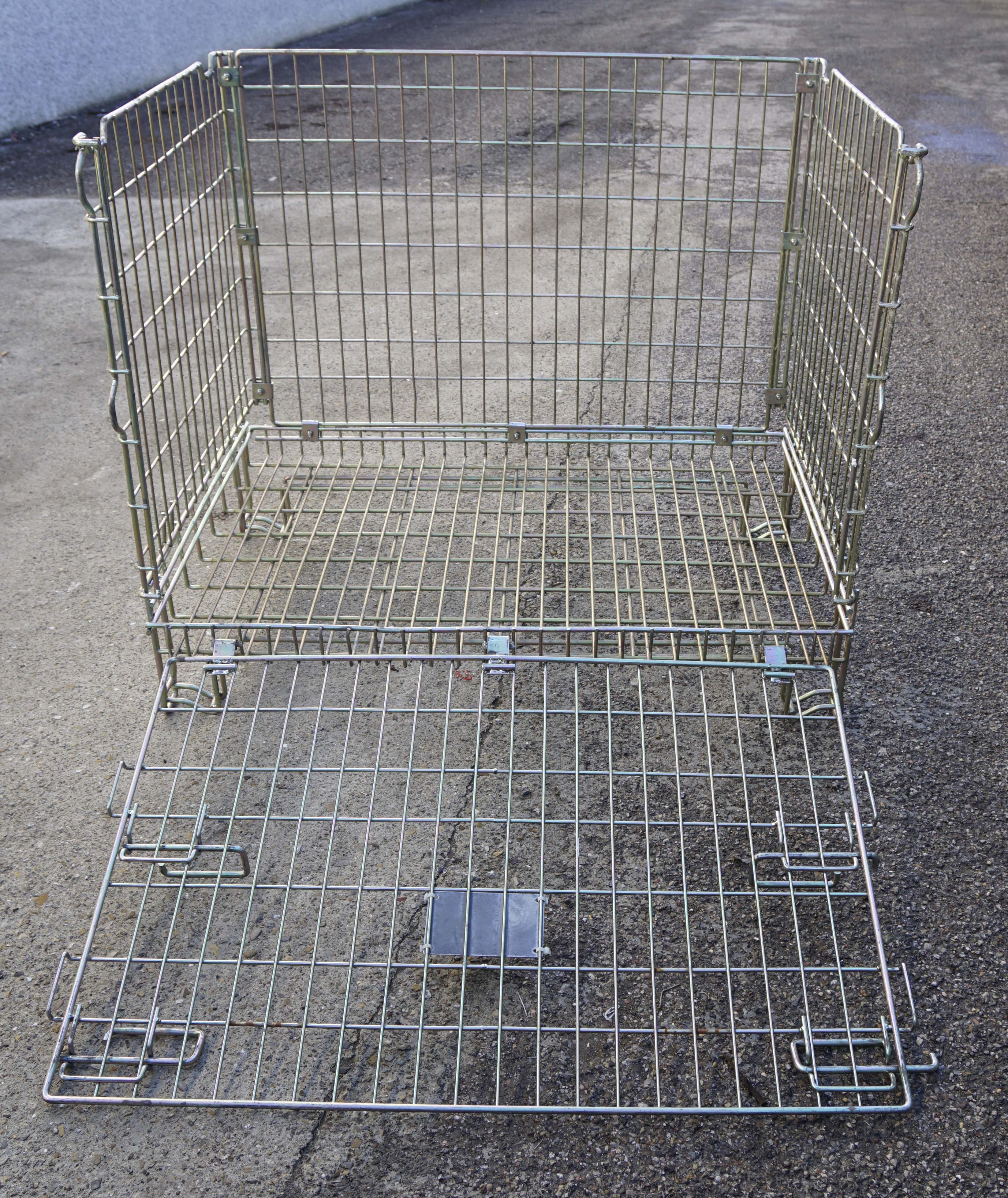 Ceste o cestoni in filo metallico richiudibili in vendita - foto 4