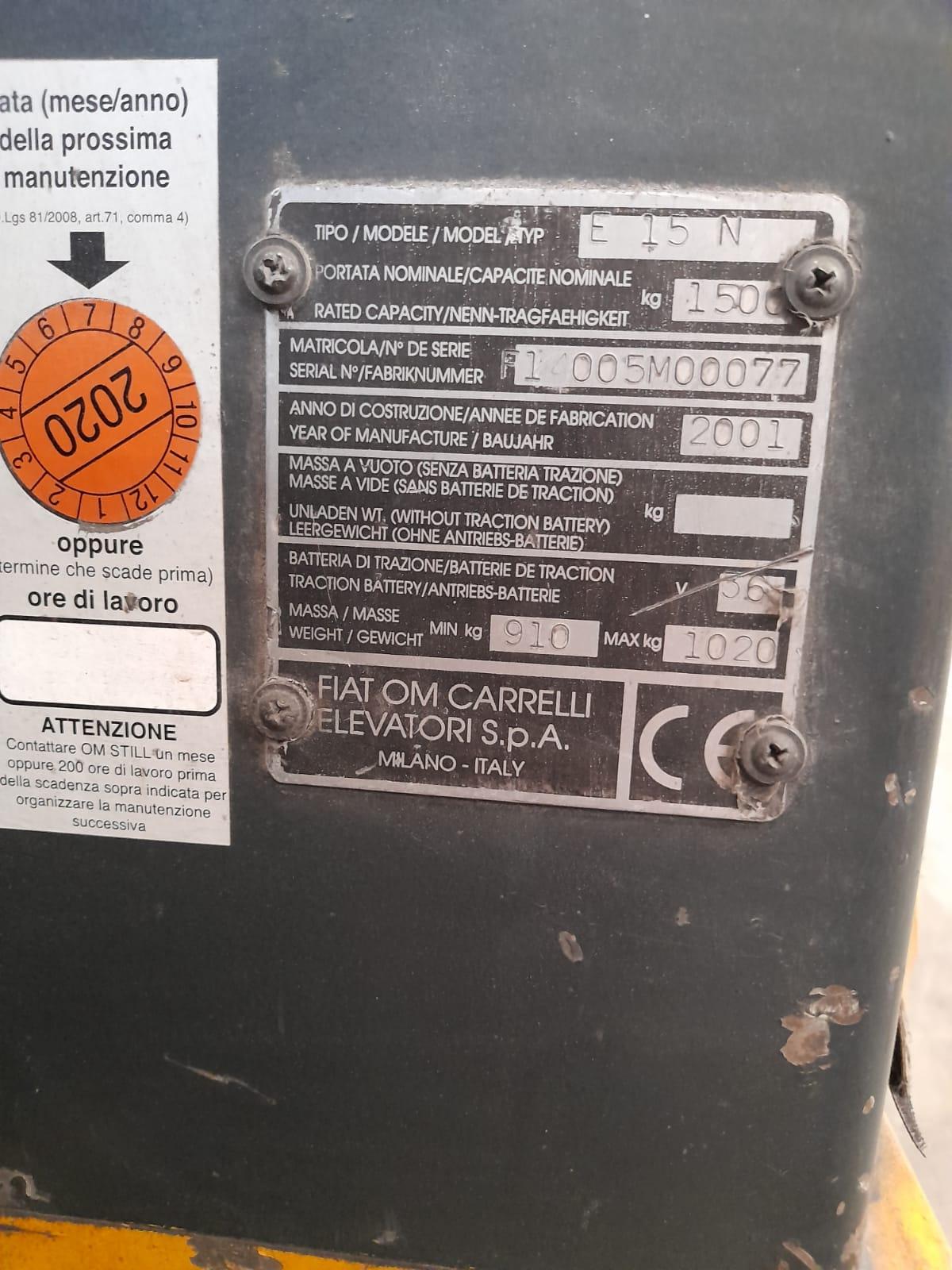 Carrello elevatore OM E 15 N in vendita - foto 6