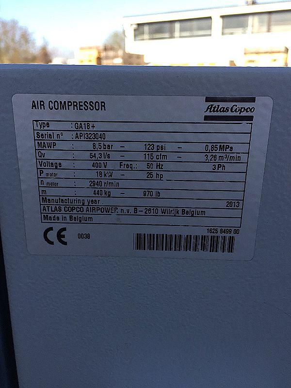 Compressore Atlas Copco GA 18+ in vendita - foto 3