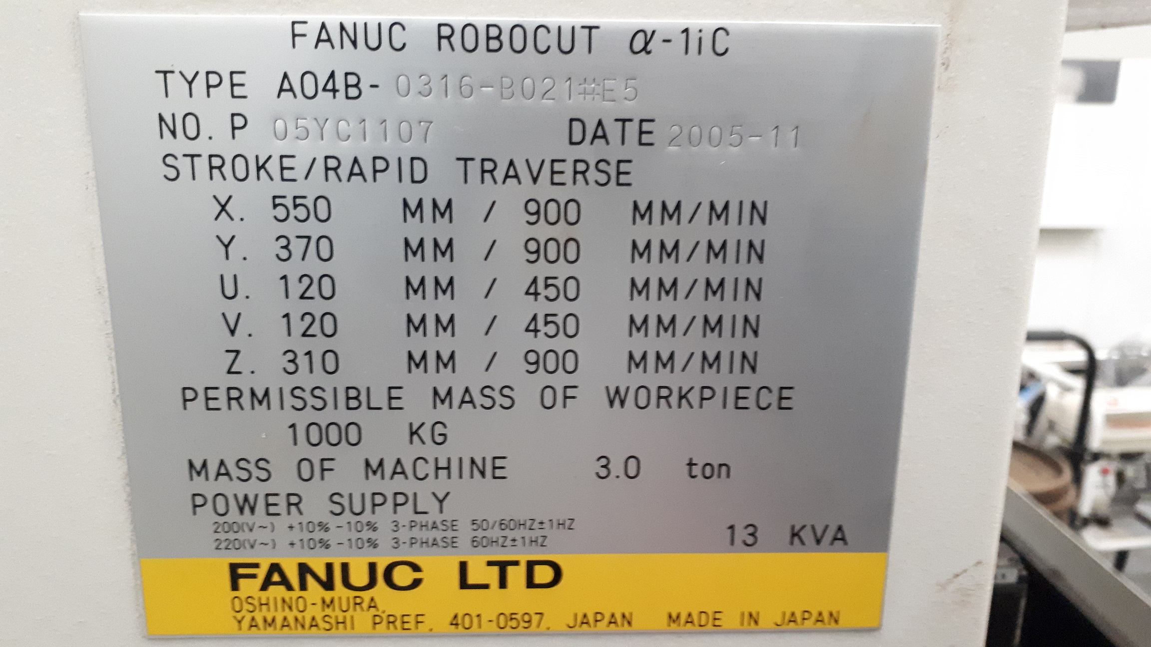 FANUC ROBOCUT ALFA-1iC in vendita - foto 2