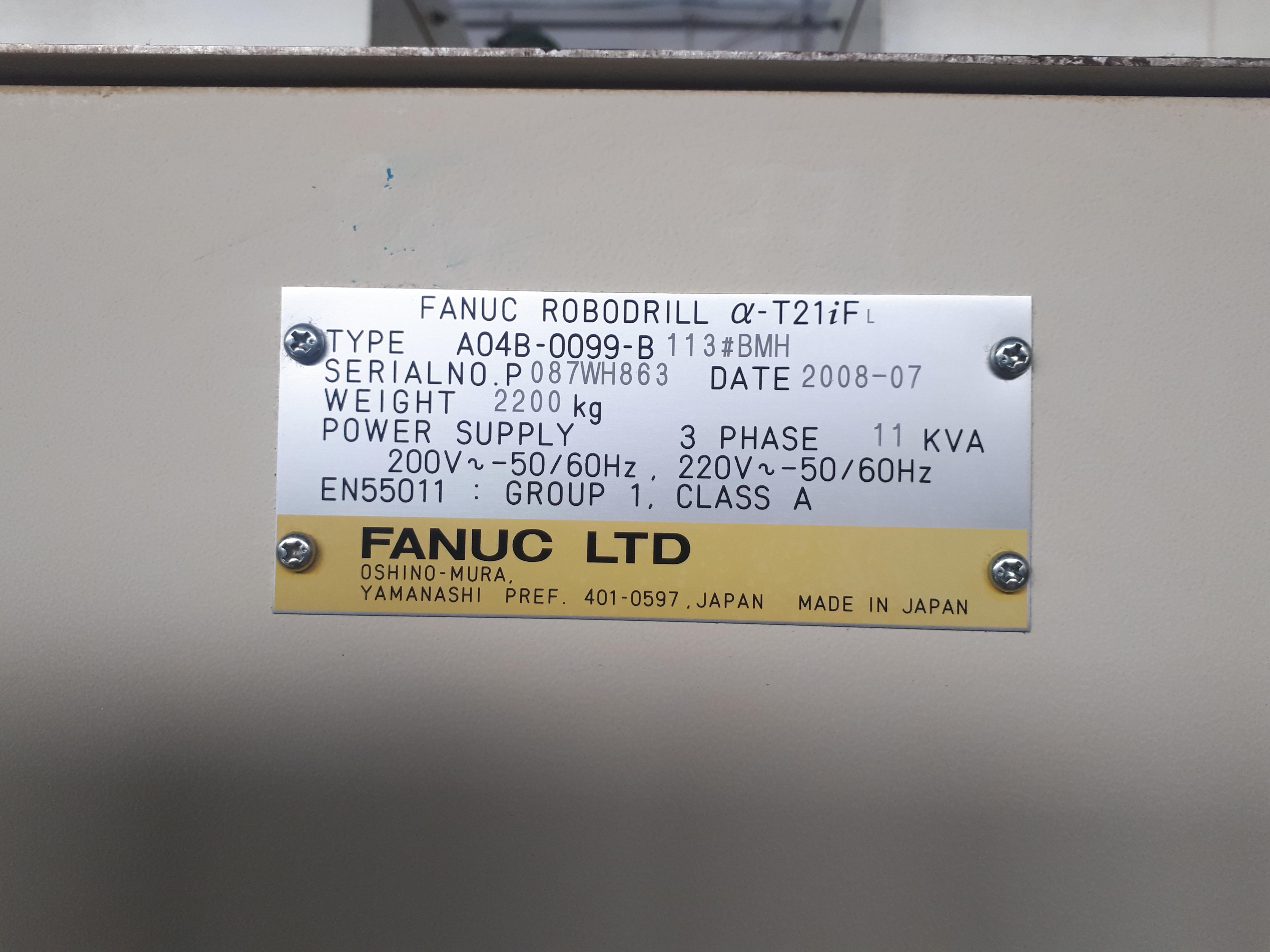 Robodrill Fanuc alfa T21 i FL in vendita - foto 4