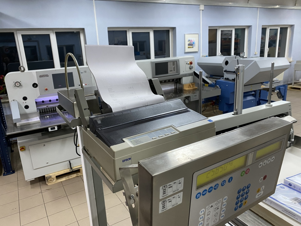 Paper jogger with weighing system Baumann BSB 3L pro in vendita - foto 3