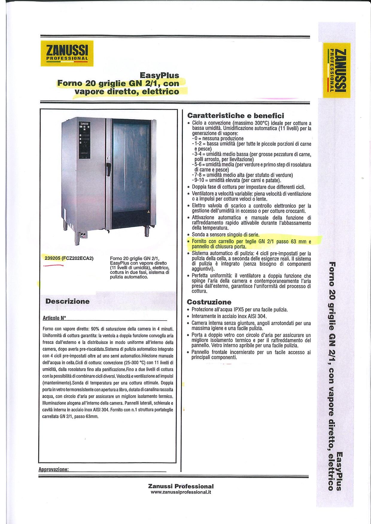 FORNO CONVEZIONE VAPORE ELETTRICO 20 GN 2/1 in vendita - foto 1
