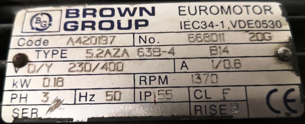 MOTORIDUTTORE – BROWN GROUP (COD. RIC-MOT-40) in vendita - foto 5