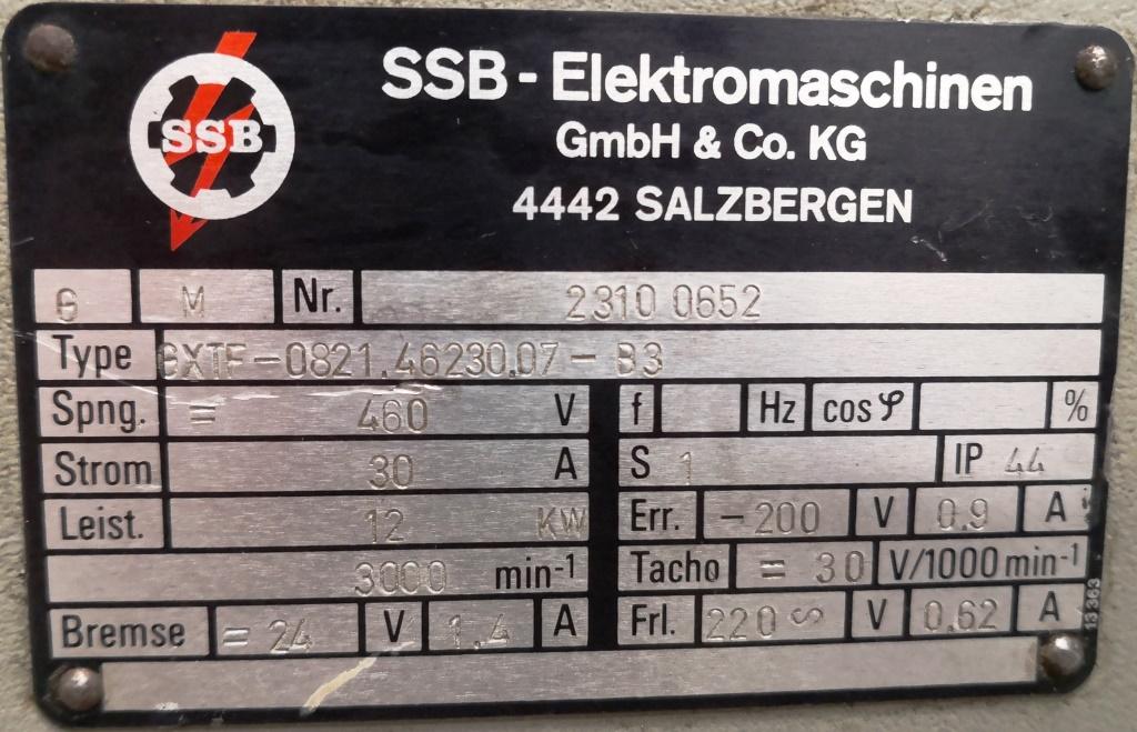 MOTORE ELETTRICO – SSB – MOD. GXTF (COD. RIC-MOT-27) in vendita - foto 3