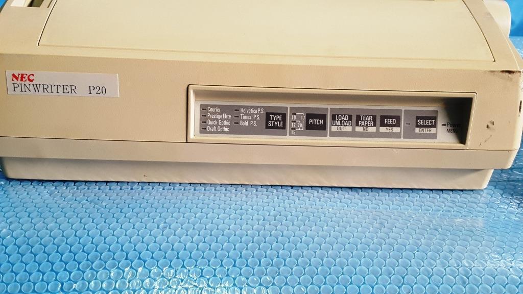 STAMPANTE AD AGHI – NEC – MOD. PINWRITER P20 (STA-19) in vendita - foto 3