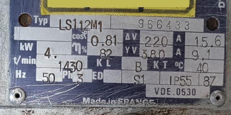 POMPA DA VUOTO – AZO – MOD. 160-138 (COD. MF-PR-POM-43) in vendita - foto 9