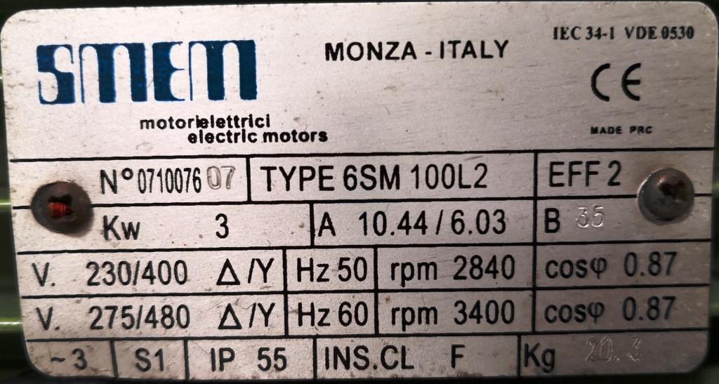 POMPA CHIMICA CENTRIFUGA –  (COD. MF-PR-POM-122) in vendita - foto 6