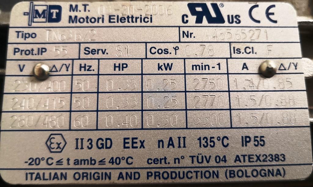 MOTORIDUTTORE – M.T. BONFIGLIOLI – TN63B/2 (MOT-41) in vendita - foto 4