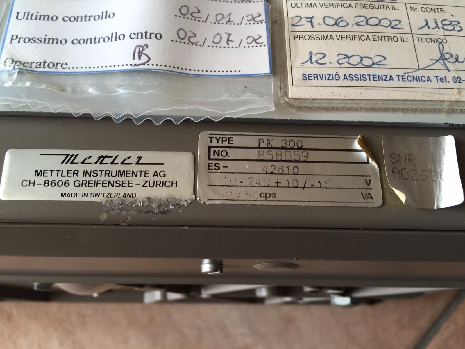 BILANCIA DA BANCO METTLER – MOD. PK300 (BIL-35) in vendita - foto 4