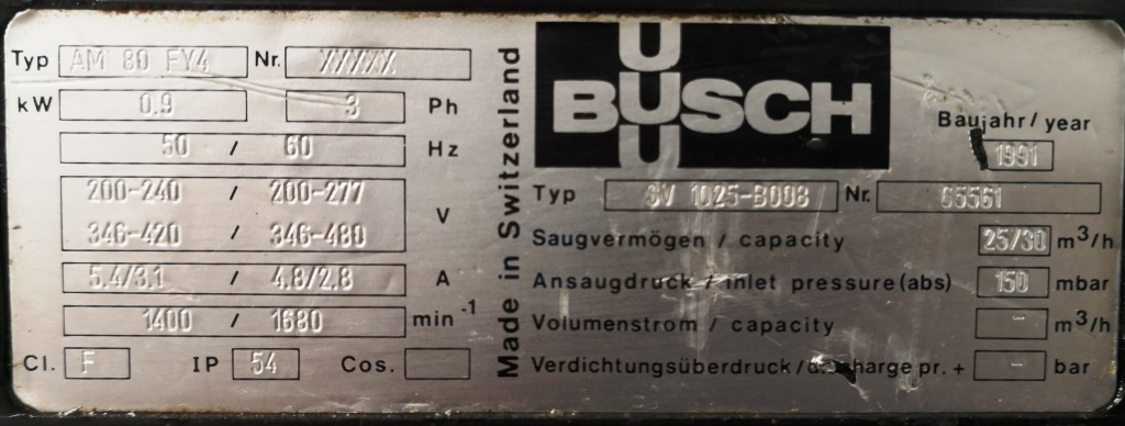 POMPA DA VUOTO – BUSCH (COD.MF-PR-POM-119) in vendita - foto 5