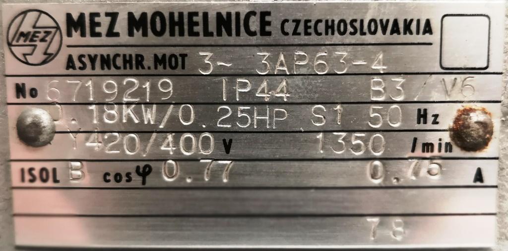 MOTORE – MEZ MOHELNICE  (COD. RIC-MOT-34) in vendita - foto 5