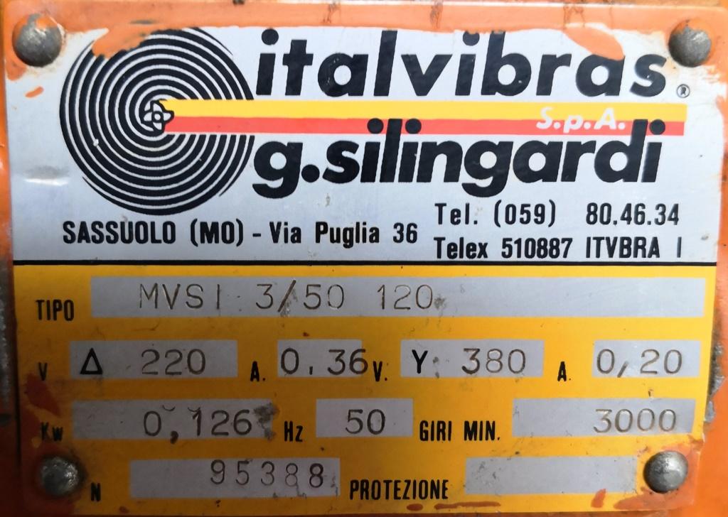 MOTOVIBRATORE ELETTRICO – ITALVIBRAS (COD. RIC-MOT-31) in vendita - foto 5