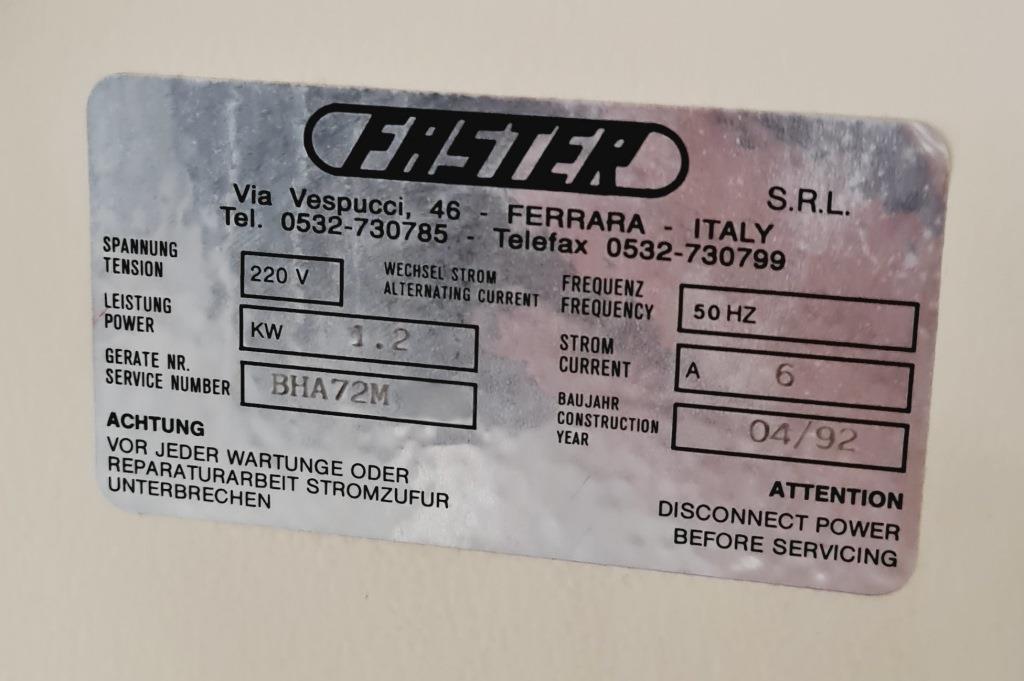 CAPPA FLUSSO LAMINARE VERTICALE FASTER BHA72M (CAP-15) in vendita - foto 8