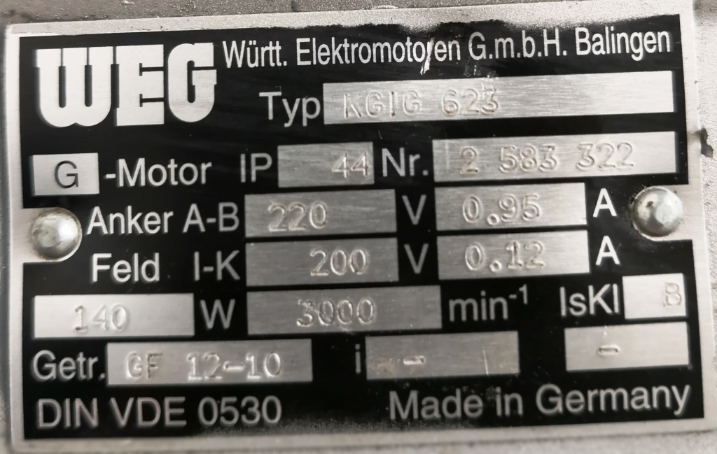 MOTORIDUTTORE – WEG  (COD. RIC-MOT-33) in vendita - foto 4