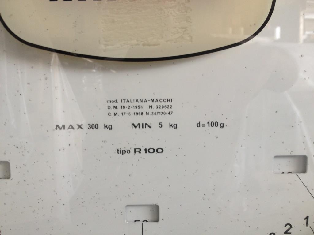 BILANCIA PAVIM. APP.PESATORE QUAD. MACCHI R100 (BIL-30) in vendita - foto 3