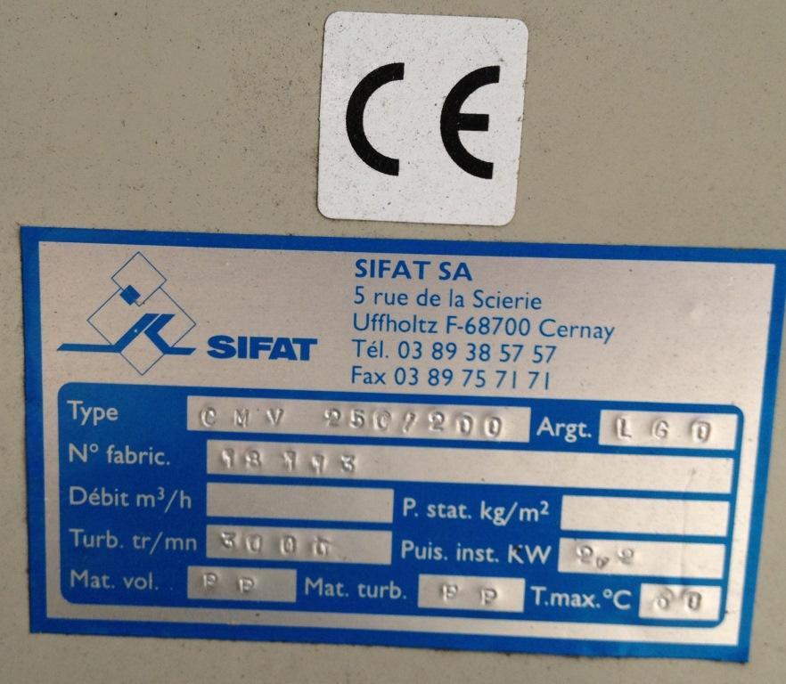 SOFFIANTE DI PLASTICA IND. SIFAT CMV250/200 (TUR-3) in vendita - foto 5