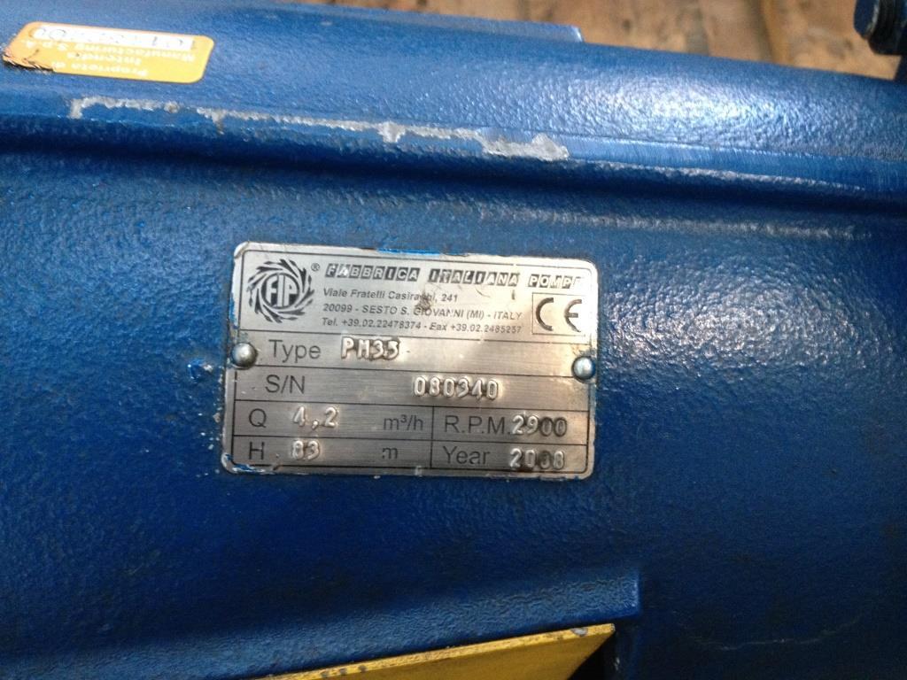 POMPA CENTRIFUGA FABBRICA ITALIANA POMPE – PM35(POM-35) in vendita - foto 3