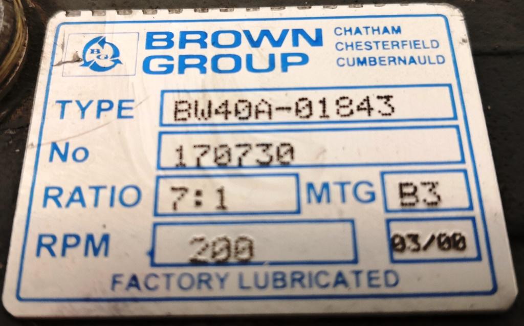 MOTORIDUTTORE – BROWN GROUP (COD. RIC-MOT-40) in vendita - foto 4