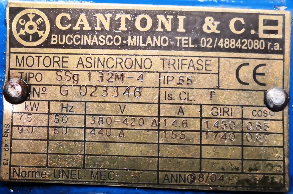MOTORE ELETTRICO – CANTONI & C.(COD. RIC-MOT-28) in vendita - foto 3