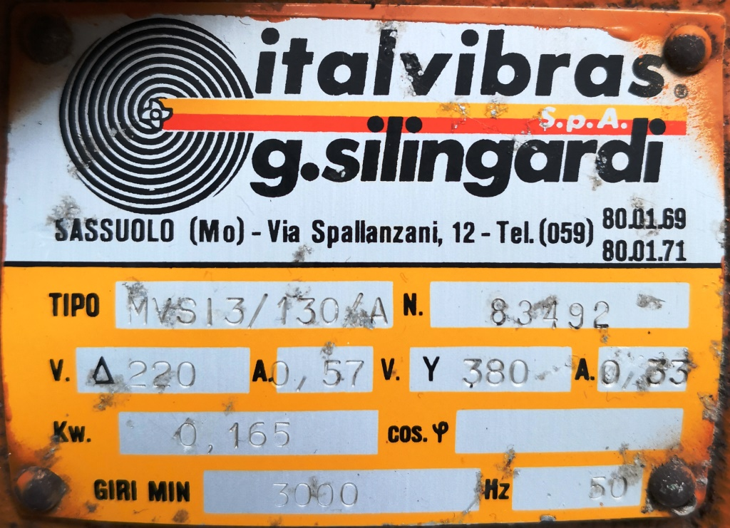 MOTOVIBRATORE ELETTRICO – ITALVIBRAS (COD. RIC-MOT-30) in vendita - foto 7