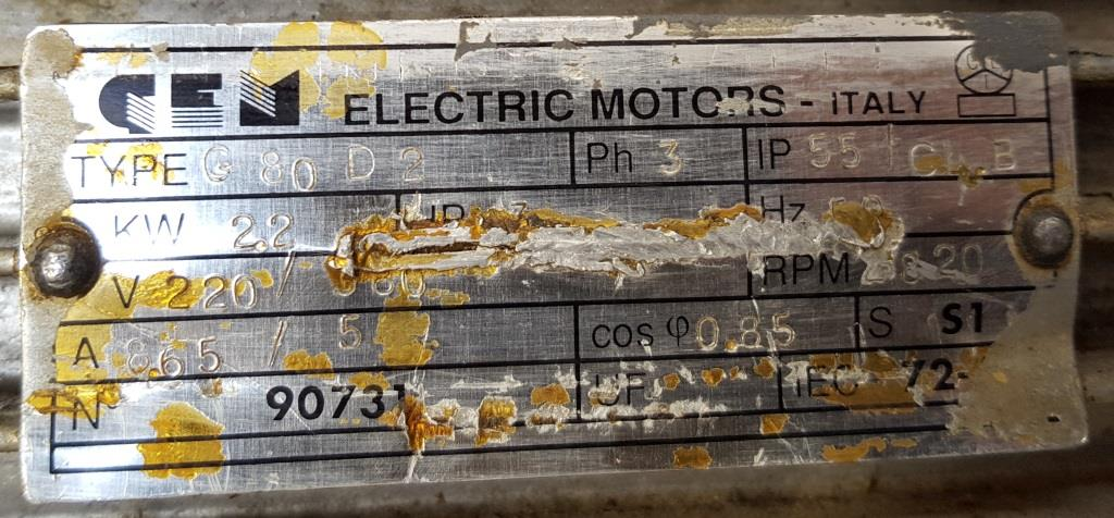 POMPA PER AREA LAVAGGIO – GEM ELECTRIC MOTORS (POM-54) in vendita - foto 9