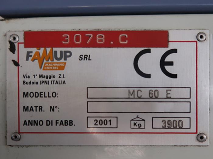 Centro di Lavoro usato FAMUP MC60E in vendita - foto 9