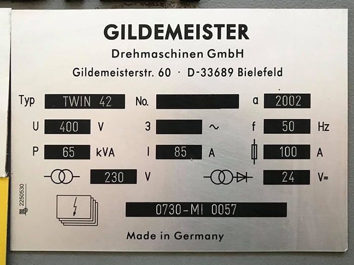 TORNIO CNC USATO GILDEMEISTER – TWIN 42 in vendita - foto 8