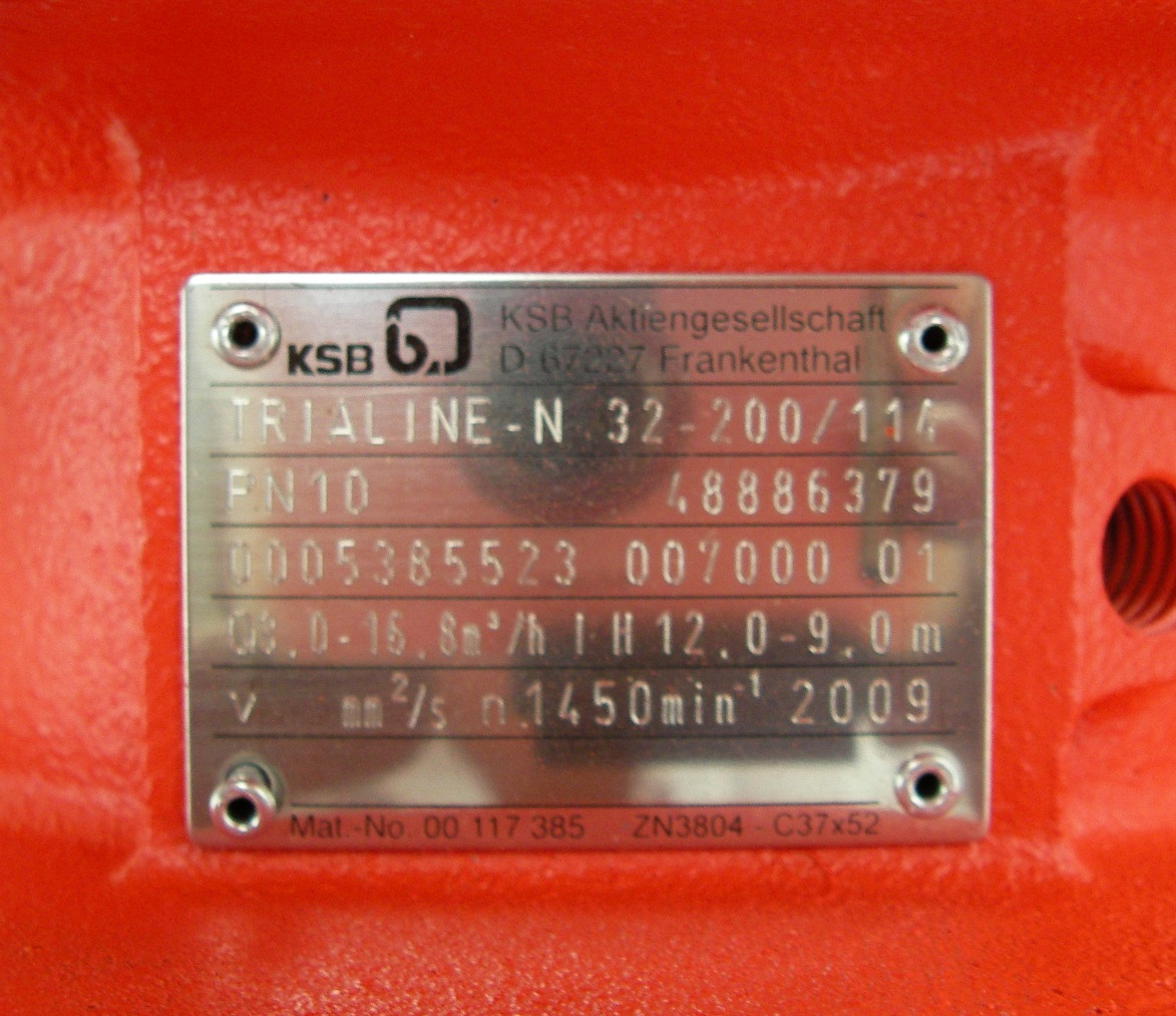 POMPA ACQUA KSB TRIALINE N32-200/114 in vendita - foto 3