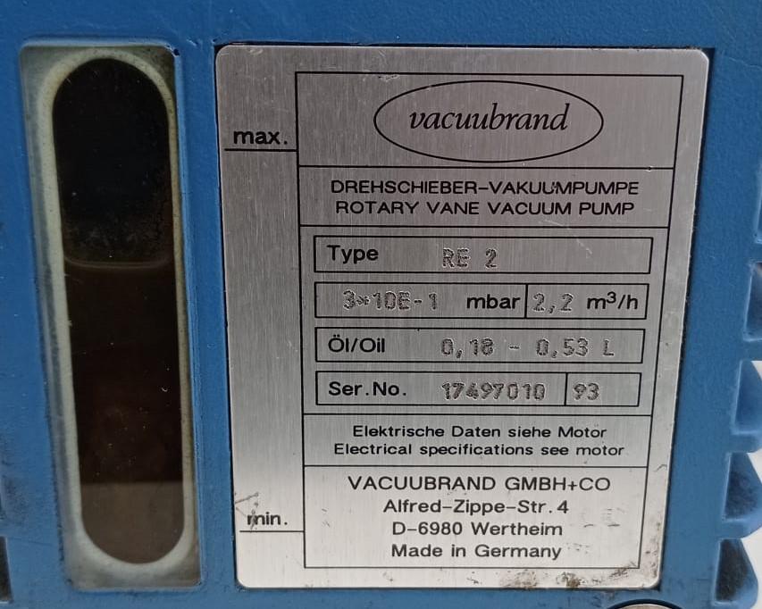 Pompa per vuoto - Vacuubrand mod. RE 2 in vendita - foto 5