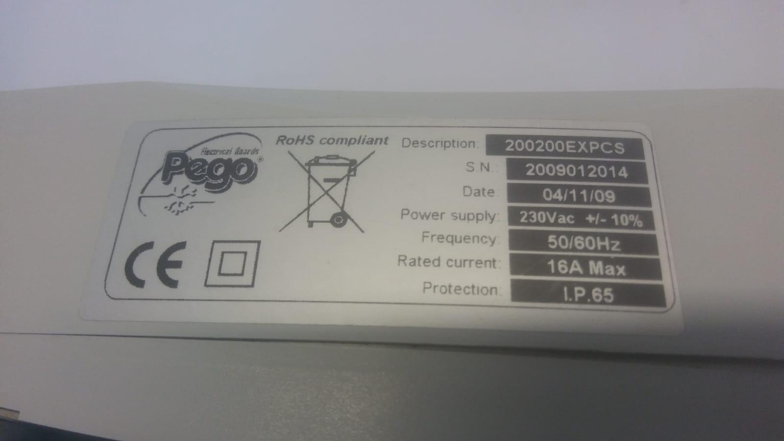 Quadro elettrico - Pego serie 200 Expert 200200EXPCS in vendita - foto 2