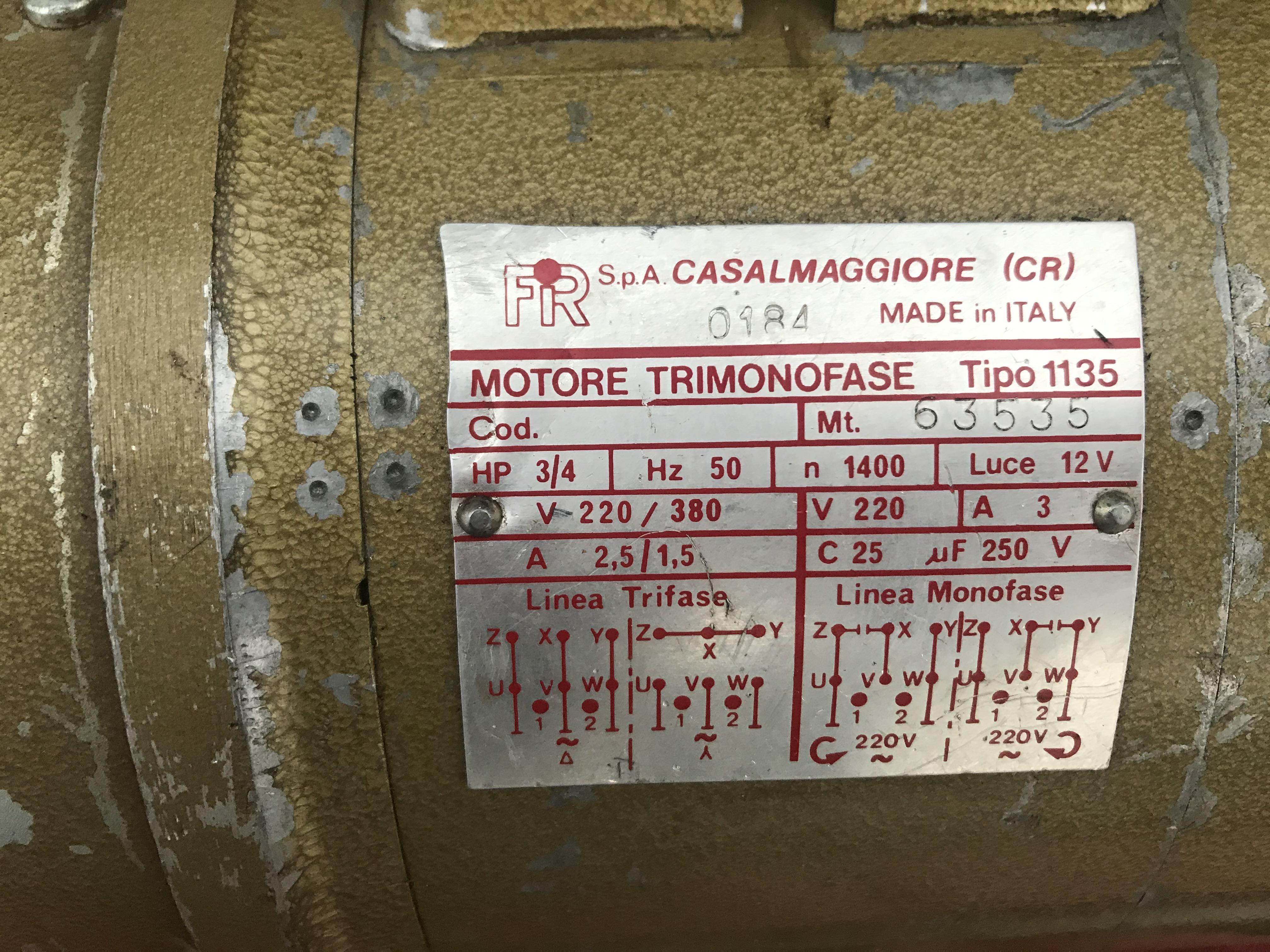 FIR Motore trimonofase macchina da cucire in vendita - foto 3