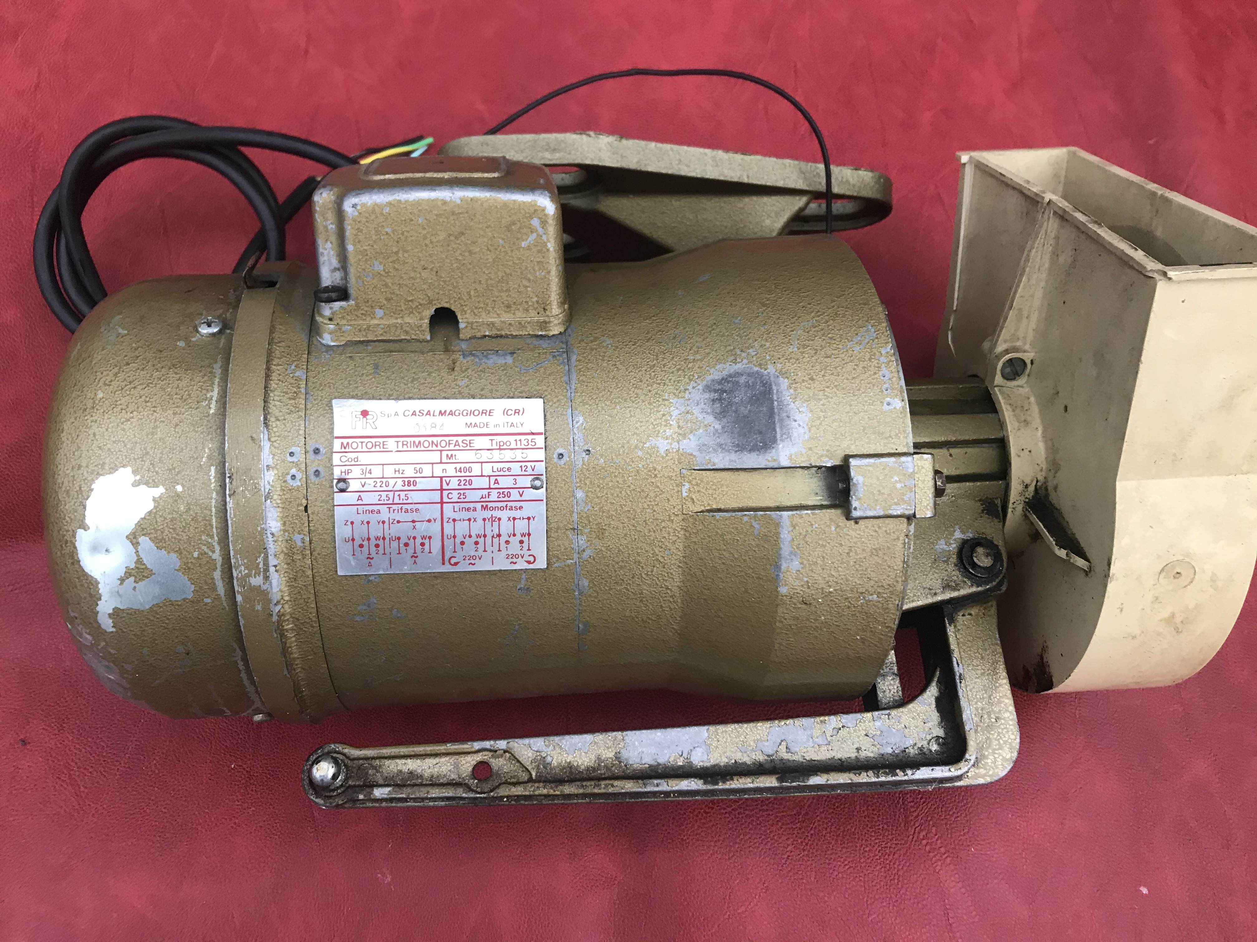 FIR Motore trimonofase macchina da cucire in vendita - foto 4