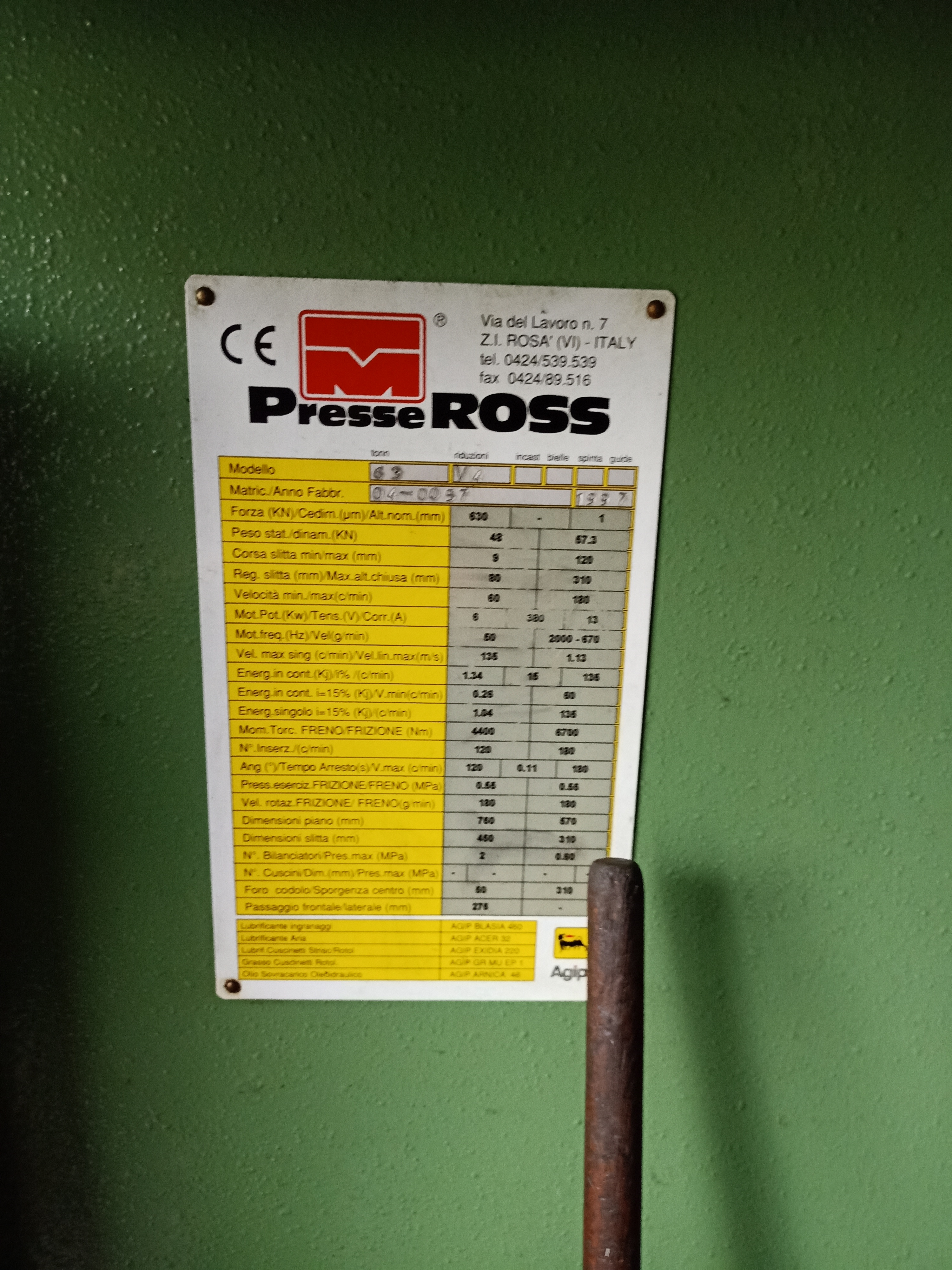 Ross 63 Ton in vendita - foto 2