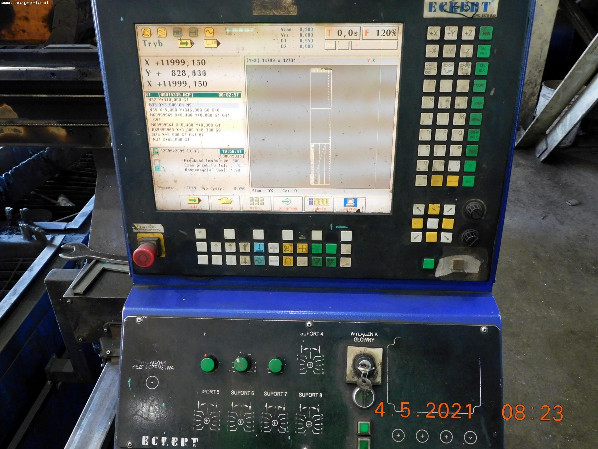 Impianto taglio plasma e ossitaglio ECKERT JANTAR 2 in vendita - foto 3