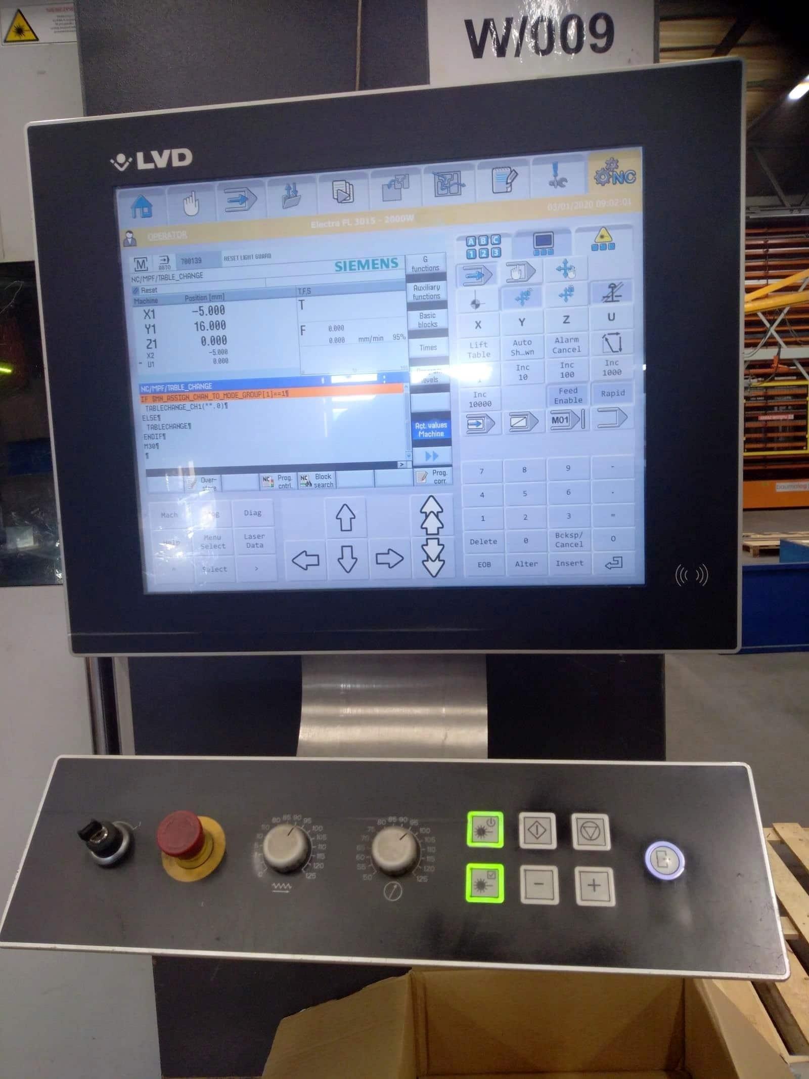 Laser a fibra LVD ELECTRA FL-3015 in vendita - foto 5
