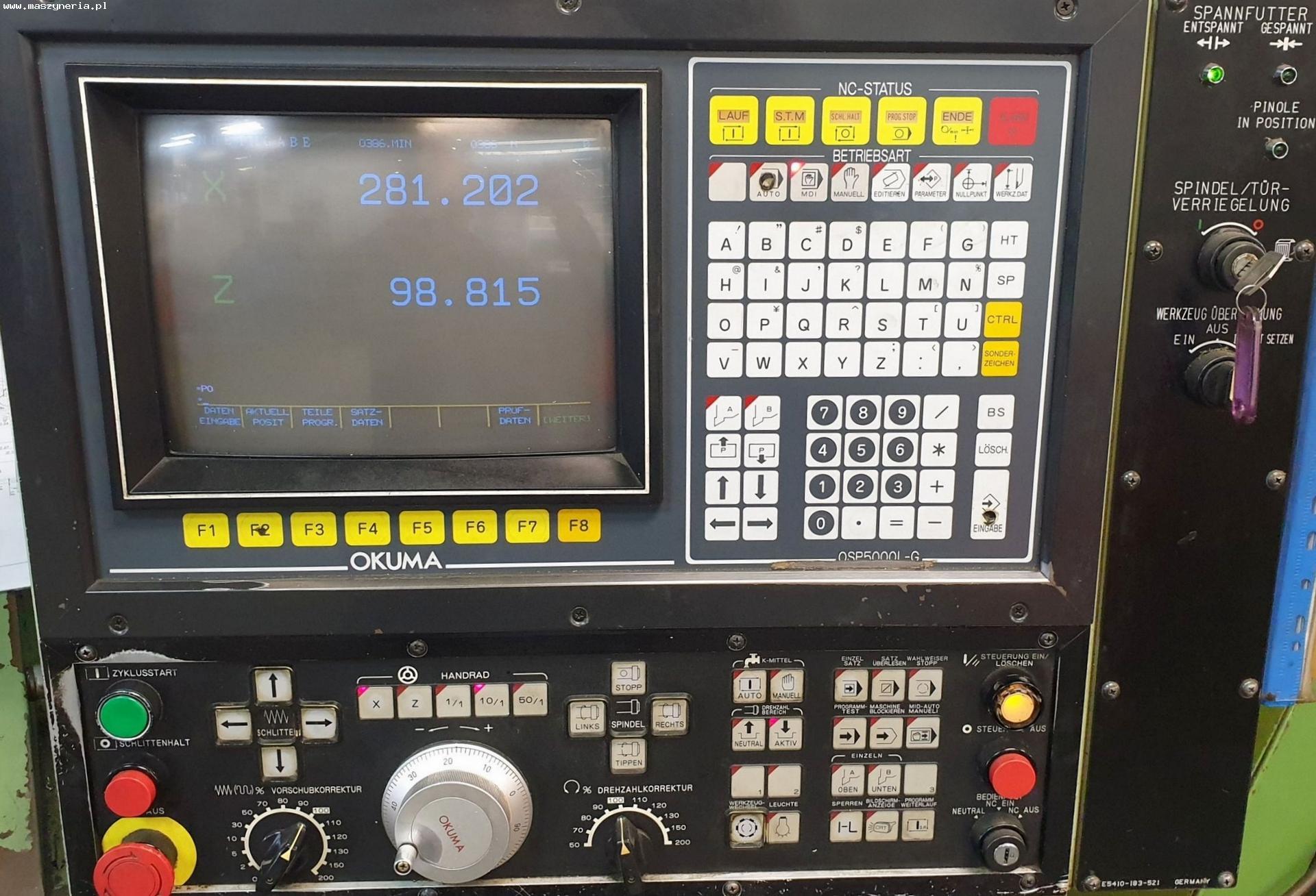 Tornio CNC OKUMA LB 15 in vendita - foto 2