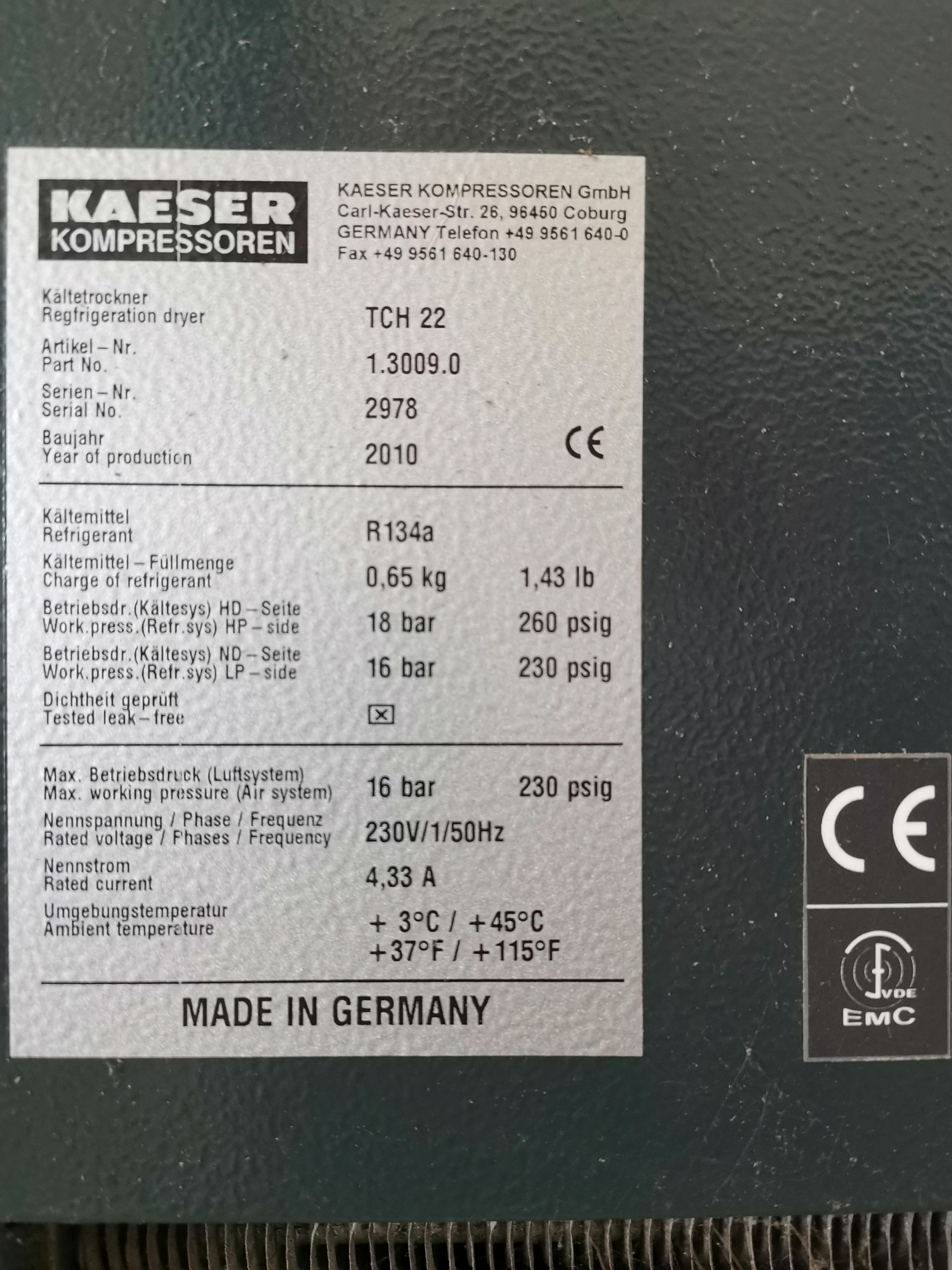 Essiccatore kaeser tch 22 in vendita - foto 3