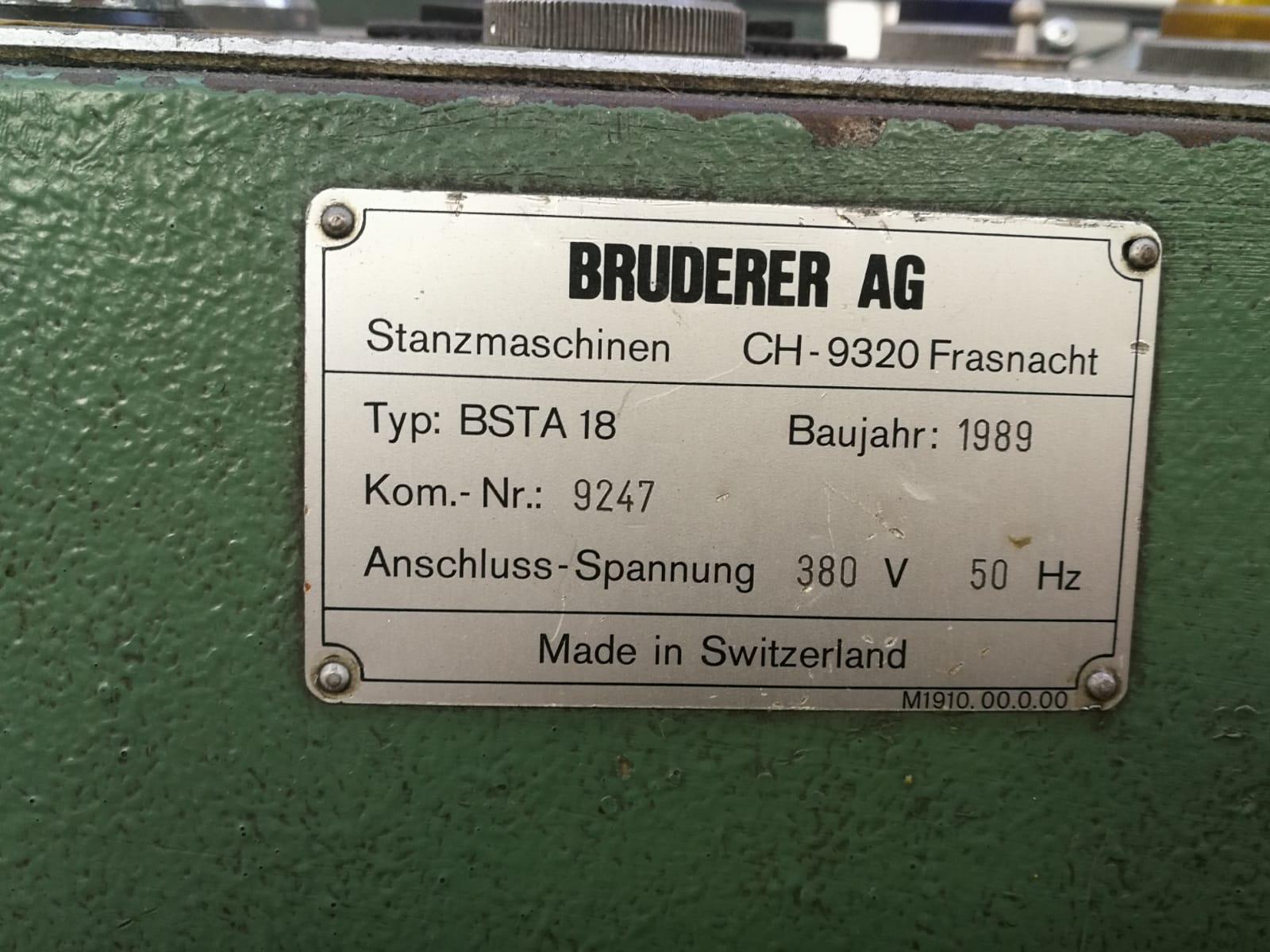 PRESSA A TRANCIARE BRUDERER  + ASPO  SERIE BSTA 18 in vendita - foto 3