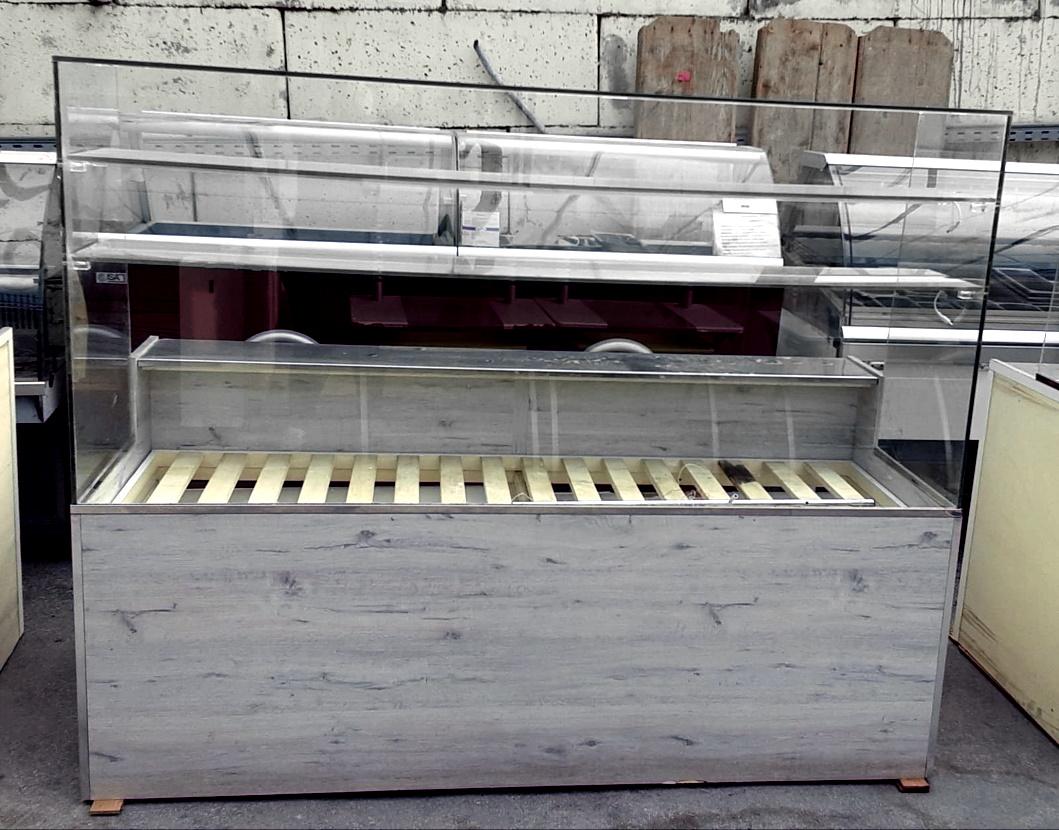 Bancone neutro con ripiano a stecche in vendita - foto 1