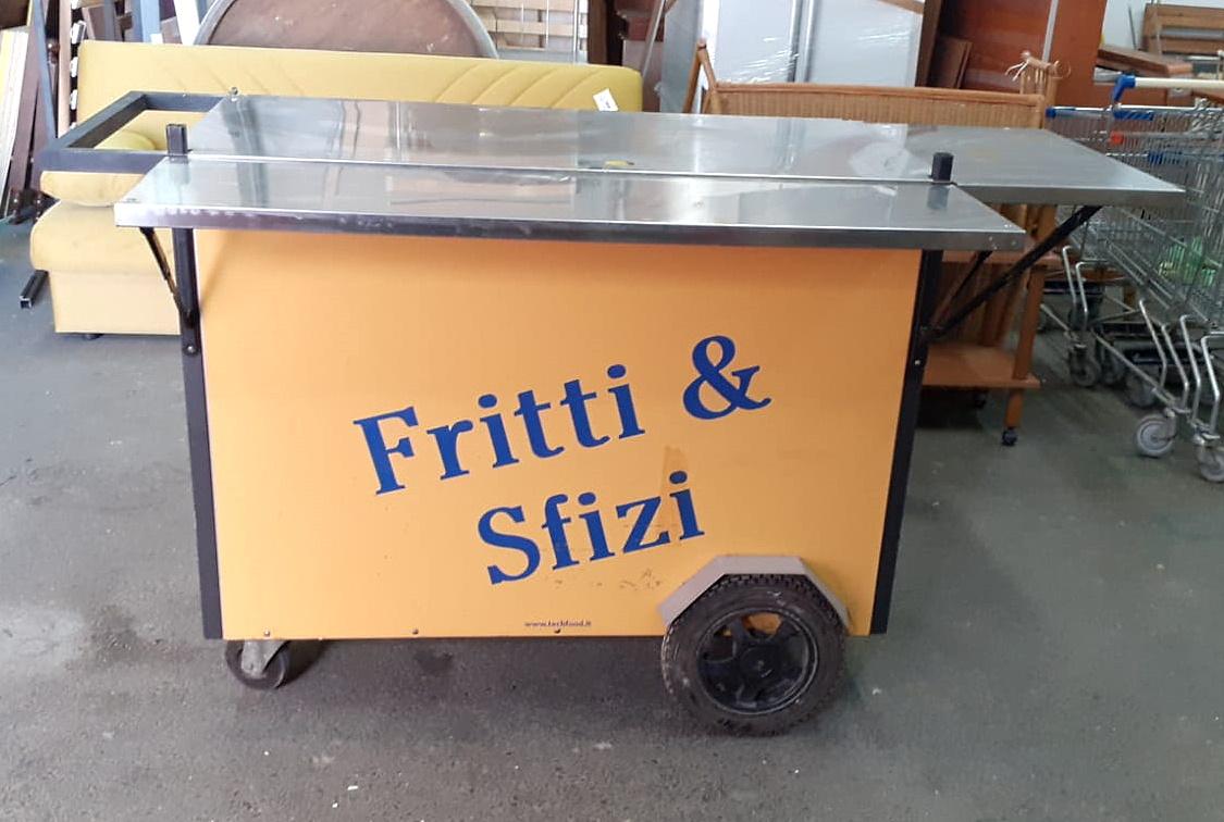 Carretto da street food con frigo integrato in vendita - foto 1