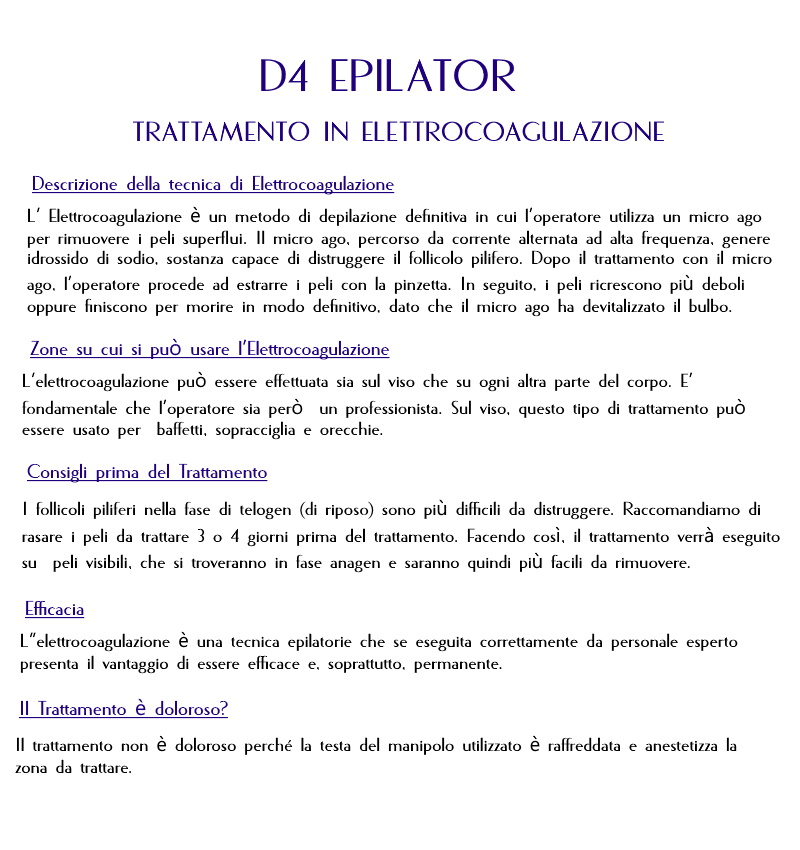 D4 Epilator per depilazione definitiva in vendita - foto 2
