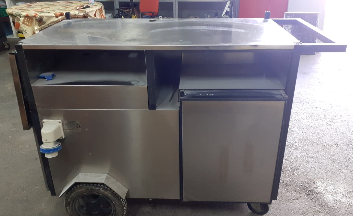 Carretto da street food con frigo integrato in vendita - foto 4